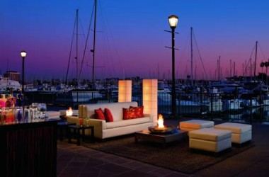 Ritz Carlton Marina Del Rey waterfront bar lounge