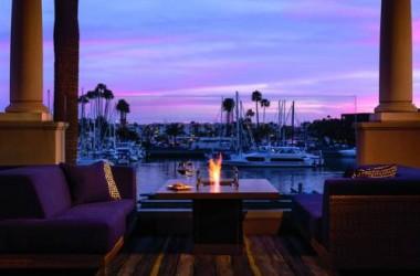 Ritz Carlton Marina Del Rey LAX waterfront firepit